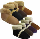 New Mens Ladies Coolers Microsuede Snugg Furry Slippers Ankle Boots Size UK 7-12