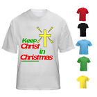 NEW KIDS WOMENS MENS KEEP CHRIST IN CHRISTMAS XMAS JESUS GOD T SHIRT TEE TOP