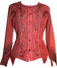 101 B Agan Traders New Gypsy Medieval Vintage Renaissance Embroidered Blouse Top