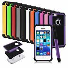 For Apple iPhone 5C Colorful Heavy Duty Hybrid Rugged Hard/Soft Matte Cover Case