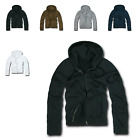 New DECKY Zip Up Hoody Hoodie Solid Sweatshirt S M L XL 2XL Mens Women Unisex
