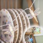 Warm White or Colour Changing LED Dragonfly Battery Operated Fairy String Lights