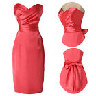 Bowknot Strapless Vintage Style Pinup Pencil Fitted Work Ball Prom Party Dress