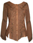 102 B Agan Traders New Gypsy Medieval Vintage Renaissance Embroidered Blouse Top