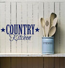 Country kitchen Vinyl lettering wall words quotes home decal art  family sticker