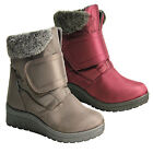 LADIES WARM WINTER SNOW THERMO BOOTS SKI FUR THERMAL WELLINGTON BOOT WOMENS SIZE