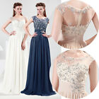 Bridesmaid Unique Design with Sheer Wedding Evening Party Prom Dress size 6 - 20