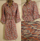 NEW EX WHITE STUFF QUACKERS DUCK PRINT CORAL PINK TUNIC BLOUSE TOP SHIRT SZ 8-18