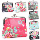 Ladies Girls Women Oilcloth Flower Print Coin Purse