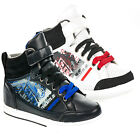 BOYS ANKLE HI HIGH TOP SKATE SCHOOL SHOES FASHION TRAINERS BOOTS SIZES 13-6 UK