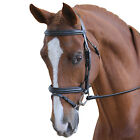 Collegiate Flash Bridle with Rubber Reins,Black or Brown,All Sizes,New