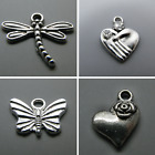 Antique Silver Tone Alloy Dragonfly Charms Beads Pendants Packs of 25 50 100 UK