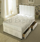 4FT6 DOUBLE 3000 POCKET SPRING TUFTED DIVAN BED + ORTHOPAEDIC MATTRESS
