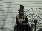 TALL LEATHER RIVERBOAT GAMBLER SHOWBOAT ARISTOCRAT STOVEPIPE 1800S TOP HAT