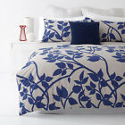 MADISON BLUE and STONE Leaf Design  Quilt / Doona Cover Set  250TC Percale NEW