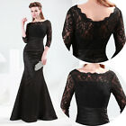 Luxury Sexy Long Lace Mermaid Wedding Evening Party Prom Ball Formal Gown Dress
