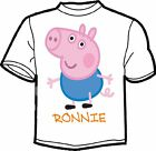 PEPPA PIG GEORGE PERSONALISED KIDS T SHIRT AGE 2 -12