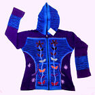 Razor Cut & Embroidered Hoodie Jacket with Zipper 100% Rib Cotton CJKT027