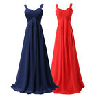 Elegant Sexy  V neck Chiffon Formal Prom/Bridesmaid Cocktail Party Evening Dress