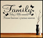 FAMILY WALL ART STICKER QUOTE WORDS PHRASES SAYINGS HOME DECOR DIY