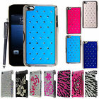FOR APPLE IPOD TOUCH 4 4TH GEN NEW DIAMOND BLING HARD SHELL CASE COVER +STYLUS