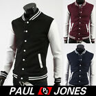 Fashion Men's Sexy Varsity Letterman Comfortable Smooth Baseball Jacket 3 Colors