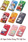 3D Cute Japan Cartoon Disney TPU Soft Back Full Case Cover For iPhone 5 4 4S 5S