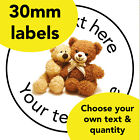 30mm Personalised stickers 'Teddy'Bear School Picnic Family Teacher Award label