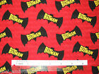 1/2 yard Batman Cotton Quilting Fabric - Choose your favourite design