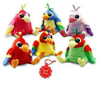 Keel Toys Collection Crackers 15 cm Plush PARROT Soft Toy BNWT 6 Colour Choice