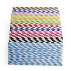 25pcs Multi Color Striped Paper Drinking Straws Wedding Birthday Festival Supply