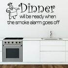 DINNER WILL BE READY wall sticker kitchen transfer quote decal vinyl stickers