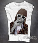 T-shirt donna KURT COBAIN nirvana grunge seattle stile Happiness