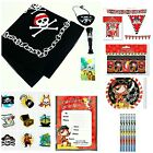 Pirate Party Supplies Tableware bag bunting balloon cup plate invite toy boy RED