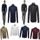 Mens Luxury Casual Slim Fit Stylish Solid In 5 Color Dress Shirts 100% Cotton PJ