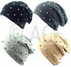 Hip Hop Studded Stud Mens Womens Fashion Street Urban Trendy Slouch Beanie Hat