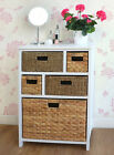 wicker drawers storage