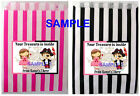 PRINCESS AND PIRATE PARTY BAGS, CAKE, LOOT GOODY - Ref 04A