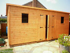 LARGE HEAVY DUTY PENT ROOF WOODEN GARDEN WORKSHOP