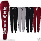 WOMENS NEW YORK TEXT LADIES TROUSER JOGGER SWEAT SHIRTS PANTS LEGGINGS BOTTOMS