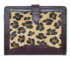 iPAD 2 3 & 4 BROWN & LEOPARD SKIN Luxury Real Genuine Leather Cover Case Stand