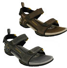 MENS CLARKS BRN, GREY NUBUCK ACTIVE AIR CASUAL VELCRO SUMMER SANDAL VICTUS PART