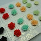 48-144PCS New Wholesale jewelry multicolor rose style earrings free shipping