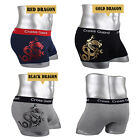 Mens Underwear NEW Young Boxer Briefs shorts Cotton Trunks Gold leaf Dragon M L