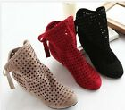 Women  cut-outs Boots Spring or Summer short Boots , Inside High -heel shoes