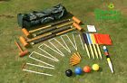BRAND NEW LONGWORTH CROQUET 4 PLAYER GARDEN GAMES SET OUTDOOR ACTIVITIES