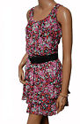 BN Ladies Black & Pink Evening Dress & Belt - UK 12 & 14