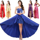 New Watermelon Satin Bridesmaid Prom Gown Evening Cocktail Prom Party Long Dress