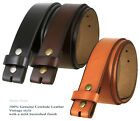 "Genuine Leather Belt Strap 1-1/2"" Wide - Black Brown Tan"