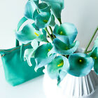 10/20 Pcs Wedding Party Latex Artificial Flower Calla Lily Bouquets Home Decor